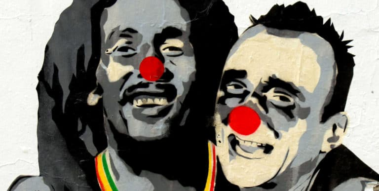 En avant la musique: Jef Aérosol et Mimi the Clown